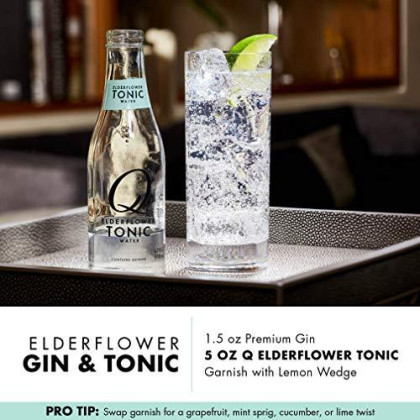 Q Mixers Elderflower Tonic Water, Premium Cocktail Mixer, 500 Ml (6 Bottles)