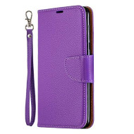Samsung Galaxy A20 / A30 Case, Lomogo Leather Wallet Case With Kickstand Card Holder Shockproof Flip Case Cover For Samsung Galaxy A20 / A30 - Lobfe130085 Purple