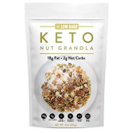 Low Karb - Keto Nut Granola Healthy Breakfast Cereal - Low Carb Snacks & Food - 2g Net Carbs - Almonds, Pecans, Coconut and more (11 oz) (1 Count)