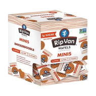 Rip Van Wafels Snickerdoodle Mini Stroopwafels - Low Carb Snacks (3G Net Carbs) - Non Gmo Snack - Keto Friendly - Office Snacks - Low Calorie Snack (34 Calories) - Low Sugar (1G) - 32 Count