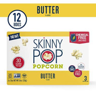 Skinnypop Microwave Butter Popcorn Bags, Healthy Snacks, 2.8Oz (12 3-Packs)