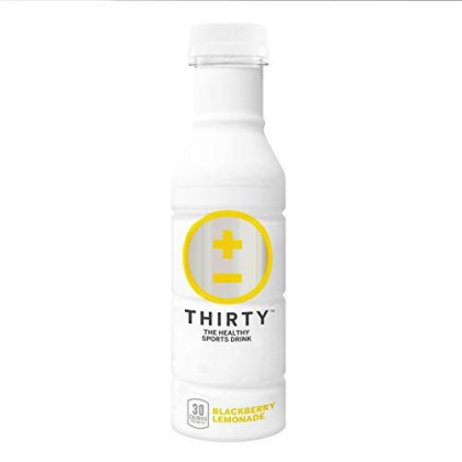 Thirty Drink, The Healthy Sports Drink, Blackberry Lemonade, 12 Ounce (Pack Of 24)