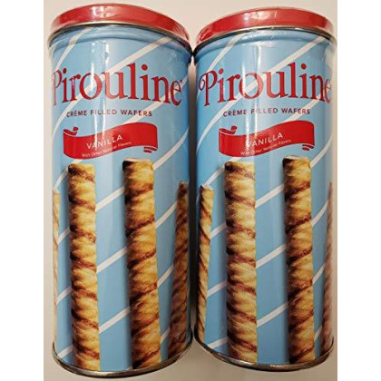 Pirouline creme filled wafers, vanilla flavored, 3.25oz, 2 pack bundle