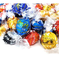 CrazyOutlet Lindt Lindor Chocolate Truffle Candy Assortment, Milk Chocolate, Smooth Caramel, White Chocolate, Dark and 60% Extra Dark Chocolate Truffles, Milk Chocolate Sea Salt, Bulk Pack, 2 Lbs