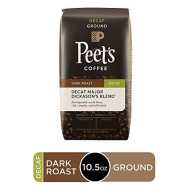 Peet'S Coffee Decaf Major Dickason'S Blend, Dark Roast Ground Coffee, 10.5 Ounce Bag, Decaffeinated