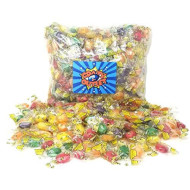 CrazyOutlet Primrose Assorted Honey Bee Hard Candy, Grape, Green Apple, Lemon, Orange and Strawberry Flavored Candies, Individually Wrapped Bulk Pack, 2 Lbs