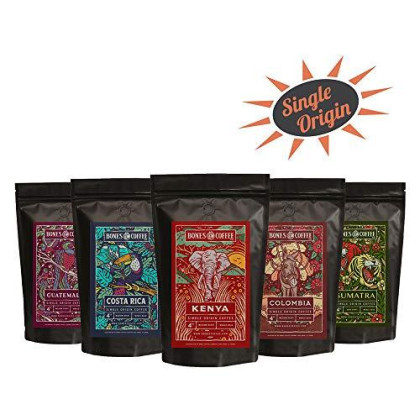 Bones Coffee Company World Tour Sample Pack (Whole Bean)