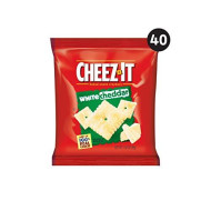 Cheez-It, Baked Snack Cheese Crackers, White Cheddar, Made With 100% Real Cheese, 2.550Lb Case (40 Count)