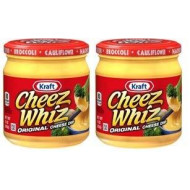 Kraft Cheez Whiz Original Cheese Dip, 15 oz Jar (Pack of 2)