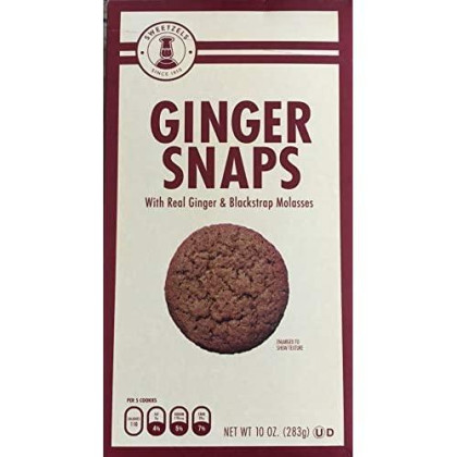 Sweetzels Ginger Snaps With Blackstrap Mollasses, 10 Oz.