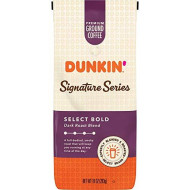Dunkin' Donuts Ground Coffee, Signature Series Select Bold Blend Dark Roast, 10 Ounce