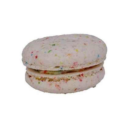 Lulupops By Lina French Macarons - Fruity Pebbles Flavored - 12 Count Fresh Baked Fruity Pebbles Flavored French Macarons Individually Wrapped