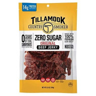 Tillamook Country Smoker Zero Sugar Original Keto Friendly Beef Jerky, 6.5 Ounce (Pack Of 1)