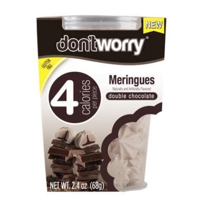 Don'T Worry Meringues (4 Calorie Per Piece) (Pack Of 2 Tubs) (Double Chocolate Meringue)