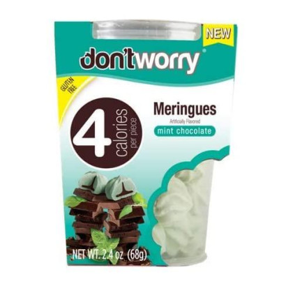 Don'T Worry Meringues (1 Calorie Per Piece) (Pack Of 2 Tubs) (Mint Chocolate)