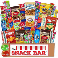 The Snack Bar - Snack Care Package (40 Count) - Variety Assortment With American Candy, Fruit Snacks, Gift Snack Box For Lunches, Office, College Students, Road Trips, Holiday Gifts