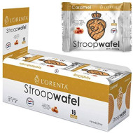 L'Orenta Stroopwafels - Wafer Cookies For Dunking In Coffee - Authentic Dutch Recipe - Non Gmo - Made By Dutch Bakers - No Artificial Sweeteners (Caramel, 16 Wafels)