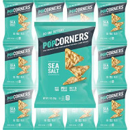 Popcorners Salt Of The Earth, Crispy And Crunchy Popped Corn Chips, Gluten-Free Snack, 1Oz Bag (Pack Of 12, Total Of 12 Oz)