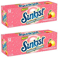 Sunkist Strawberry Lemonade - 24 Cans/12 Fl Oz
