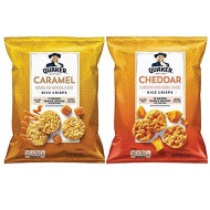Quaker Rice Crisps, Cheddar & Caramel Variety Pack, 6.06 & 7.04 Oz Bags (Pack Of 6)