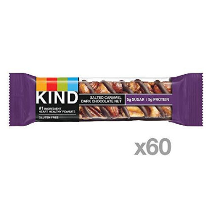 Kind Bar, Salted Caramel & Dark Chocolate Nut, 1.4 Ounce, 60 Count