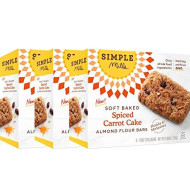 Simple Mills Soft-Baked Spiced Carrot Cake Almond Flour Bars, 3 Count