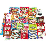 Deluxe Korean Snack Box 34 Count Individual Wrapped Essentials Sample Packs Of Candy, Snacks, Chips, Cookies, Treats For Kids, Children, College Students, Adult And Senior