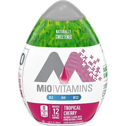 Mio Vitamins Tropical Cherry Liquid Water Enhancer Naturally Sweetened With Stevia Leaf Extract 1.62 Fl Oz