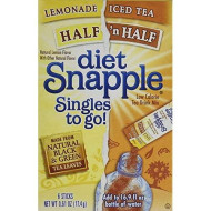 Snapple Half Lemonade/Half Tea Singles To Go Drink Mix, 6 Ct (Pack - 3)