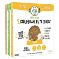 Cali'Flour Foods Plant-Based Pizza Crust (Variety, 3 Boxes, 6 Crusts) - Fresh Cauliflower Base   Vegan, Low Carb, High Protein, Gluten And Grain Free   Paleo Friendly