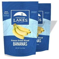 Thousand Lakes Freeze Dried Fruits And Vegetables - Banana 2-Pack 3.2 Ounces (6.4 Ounces Total) | No Sugar Added