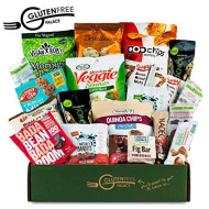 Healthy Vegan Snacks Care Package - [20 Count] - Plant-Based Gluten Free, Dairy Free, Non-Gmo Cookies, Bars, Chips, Puffs, Fruit & Nuts. Vegan Snack Pack, Snack Attack College Care Package