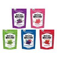 Wiley Wallaby Ultimate Fruit Variety Australian Licorice Snack Peak Gift Box (5 - 10 oz bags) - Red, Green Apple, Watermelon, Huckleberry, Blueberry Pomegranate