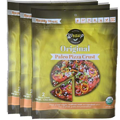 Paleo Pizza Crust   3 Pack Original Flavored Organic Gluten Free, Dairy Free, Soy Free, Nut Free And Vegan Pizza Crust (Original, 3 Pack)