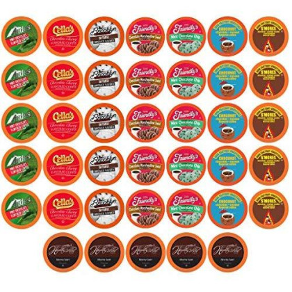 Two Rivers Coffee Chocolate Lovers Coffee Single Serve Cups Variety Pack Sampler For Keurig K-Cup Brewer, 40 Count