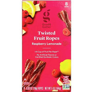 Twisted Fruit Strips Fruit Ropes Leather Healthy Snack Made With Real Fruit Puree Concentrate Good And Gather 8 Ropes (Raspberry Lemonade)