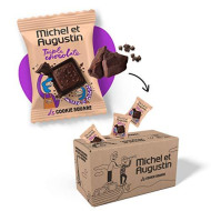 Michel et Augustin Chocolate French Cookie Mini Squares | Triple Chocolate Pure Butter Shortbread | Gourmet Snack Dessert Gift Baskets for Father's Day | 180 Count