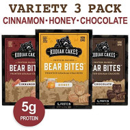 Kodiak Cakes Bear Bites Graham Crackers Variety Pack: Honey, Chocolate & Cinnamon Snacks