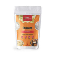 Custard Instant Mix, Low Carb And Gluten Free. 8 Oz. Low Calories 80 Gr Per Serving. No Sugar Added