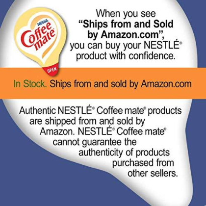 Nestle Coffee-Mate Coffee Creamer, Snickers, Liquid Creamer Singles, 50 Count (Pack Of 4)