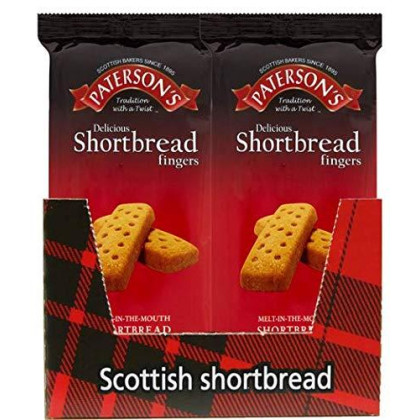 Paterson's Shortbread Fingers, 150 g (Pack of 18), Scottish Cookies, Shortbread Cookies From Scotland, European Cookies, Scottish Cookies, Scottish Shortbread Cookies,
