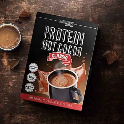 Protein Hot Chocolate, Keto Hot Chocolate Mix, Low Carb Hot Cocoa, 15G Protein, 2G Net Carbs, Low In Sugar, Instant Hot Coco, 7 Individual Macro-Controlled Packages (Classic, 1 Pack)