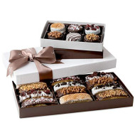 Barnett's Chocolate Cookies & Biscotti Christmas Gift Baskets, Unique Gourmet Cookie Tower Gifts Holiday Food Ideas For Him Her Corporate Men Women Families Thanksgiving Valentines Fathers Mothers Day