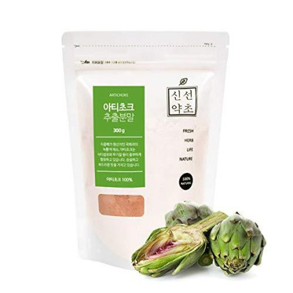 Sinsunherb Artichoke Extract Powder | 300G | 1 Pack, Soft Bitter Flavor, Easy To Apply On Various Recipes, ????