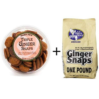 Trader Joe'S Triple Ginger Snaps And Dutch Ginger Snap Cookies