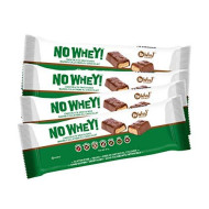 No Whey Foods - Chocolate Candy Nougat and Caramel Bars (4 Pack) - Vegan, Dairy Free, Peanut Free, Nut Free, Soy Free, Gluten Free