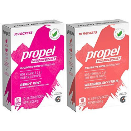 Propel Vitamin Boost Powder, 2 Flavor Variety Pack, 50 Count
