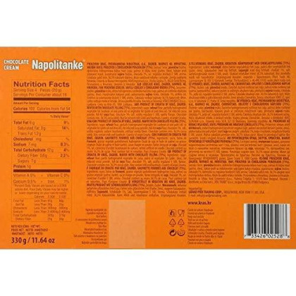 Napolitanke Wafers With Chocolate Filling Pack Of 2