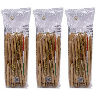 Mario Fongo Hand Stretched Large Italian Sesame Breadsticks Grissini Rubata - Imported from Italy - 200g (7oz) (3 Pack)