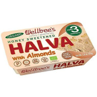 Wellbee'S Honey Halva - Paleo & Scd Approved - No Additives, Refined-Sugar, Or Artificial Sweeteners - 75G Each - 3 Pack (Almond - Organic)